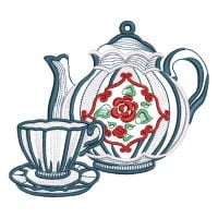 Matriz de bordado Hora do Chá