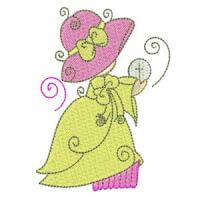 Matriz de bordado Meninas Religiosas 01