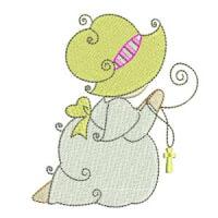 Matriz de bordado Meninas Religiosas 02