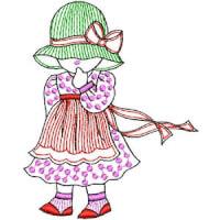 Matriz de bordado menina 04