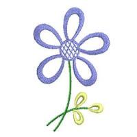 Matriz de bordado Floral 194