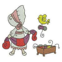 Matriz de bordado Menina Costureira 1