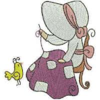 Matriz de bordado Menina Costureira 3