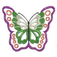 Matriz de bordado borboleta 17