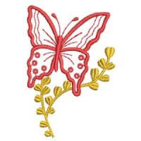 Matriz de bordado borboleta 19