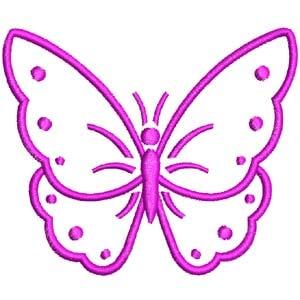 Matriz de bordado borboleta 20