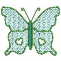 Matriz de bordado borboleta 25