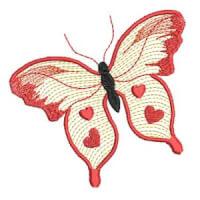 Matriz de bordado borboleta 32