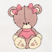 Matriz de bordado ursinho 85