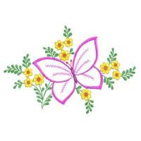Matriz de bordado borboleta 33