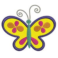 Matriz de bordado borboleta aplique 3