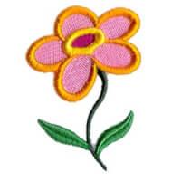 Matriz de bordado flor 9