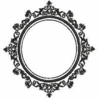 Matriz de bordado floral circular 1