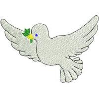 Matriz de bordado Paz 03