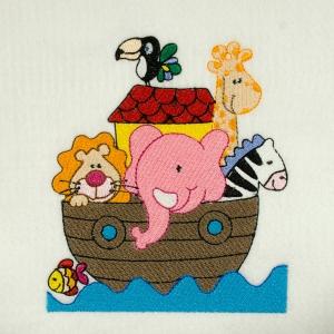 Matriz de bordado arca animais 5