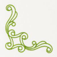 Matriz de bordado floral canto 4