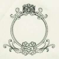 Matriz de bordado moldura monograma 3