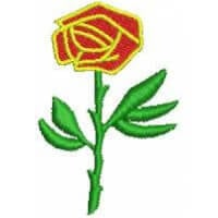 Matriz de bordado flor 11