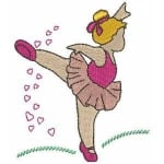 Matriz de bordado Bailarina 22