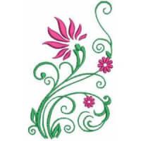 Matriz de bordado floral 332