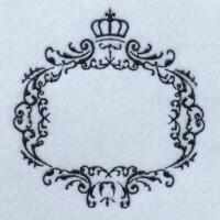 Matriz de bordado moldura monograma 21