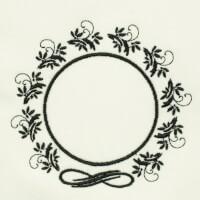Matriz de bordado moldura monograma 24