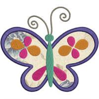 Matriz de bordado borboleta aplique 4