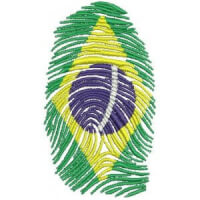 Matriz de bordado brasil 85