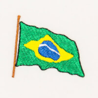 Matriz de bordado bandeira brasil 2