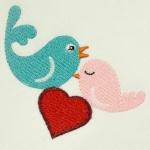 Matriz de bordado casal passarinhos 1