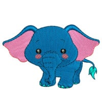 Matriz de bordado Elefante baby 1