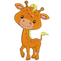 Matriz de bordado Girafa baby 1