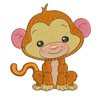 Matriz de bordado Macaco baby 2