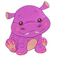 Matriz de bordado Hipopótamo baby 1