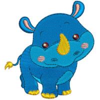 Matriz de bordado Rinoceronte baby 1