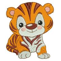 Matriz de bordado Tigre baby 1