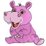Matriz de bordado Hipopótamo baby 2