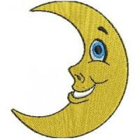 Matriz de bordado Lua charmosa