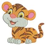 Matriz de bordado Tigre baby 2