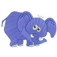 Matriz de bordado Elefante baby 3