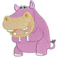 Matriz de bordado Hipopótamo baby 3