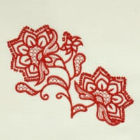 Matriz de bordado floral 351