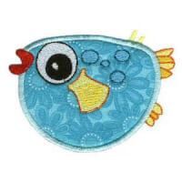 Matriz de bordado peixe 12 (aplique)