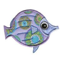Matriz de bordado peixe 14 (aplique)
