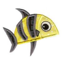 Matriz de bordado peixe 15 (aplique)