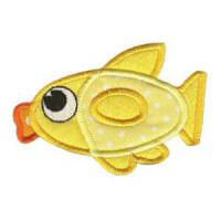 Matriz de bordado peixe 16 (aplique)
