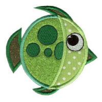 Matriz de bordado peixe 17 (aplique)