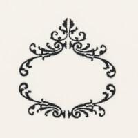 Matriz de bordado Moldura Monograma 76