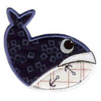 Matriz de bordado baleia 03 (aplique)