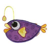 Matriz de bordado peixe 19 (aplique)